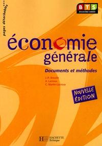 Jean-Pierre Broutin et Alain Lacroux - Economie générale BTS Deuxième année.