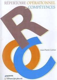 Jean-Pierre Cartier - Répertoire opérationnel de compétences.