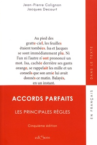 Jean-Pierre Colignon et Jacques Decourt - Accords parfaits - Les principale règles.