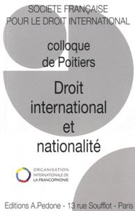 Jean-Pierre Cot - Droit international et nationalité - 45e colloque de la Société française pour le droit international, Poitiers, 9-11 juin 2011.