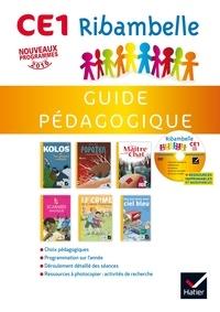 Jean-Pierre Demeulemeester et Nadine Demeulemeester - Ribambelle CE1 série jaune - Guide pédagogique. 1 CD audio