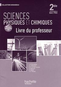 Jean-Pierre Durandeau - Sciences physiques et chimiques 2e professionnelle Bac pro - Livre du professeur.
