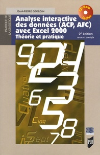 Jean-Pierre Georgin - Analyse interactive des données (ACP, AFC) avec Excel 2000 - Théorie et pratique. 1 Cédérom