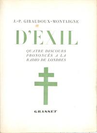 Jean-Pierre Giraudoux - D'exil.