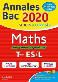 Jean-Pierre Haure et François Lavandier - Maths Tle ES/L - Sujets et corrigés.