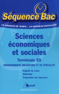 Jean-Pierre Hirchy et Jean-Paul Houvenaeghel - Sciences économiques et sociales Tle ES.