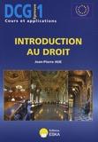 Jean-Pierre Hue - Introduction au droit DCG1.