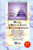 Jean-Pierre Hue - Manuel de droit du travail et relations juridiques - DECF N° 2.