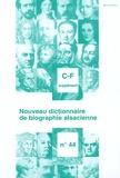 Jean-Pierre Kintz - Nouveau dictionnaire de biographie alsacienne n° 44 - Supplément C-F.