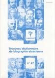 Jean-Pierre Kintz - Nouveau dictionnaire de biographie alsacienne n° 47 - Supplément Na-T.