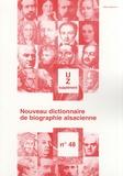 Jean-Pierre Kintz - Nouveau dictionnaire de biographie alsacienne n° 48 - Supplément U-Z - Additifs A-T.