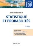 Jean-Pierre Lecoutre - Statistique et probabilités - Cours et exercices corrigés.