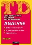 Jean-Pierre Lecoutre et Naïla Hayek - TD analyse - QCM et exercices corrigés, 10 sujets d'examen corrigés, rappel de cours.