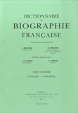 Jean-Pierre Lobies et Yves Chiron - Dictionnaire de biographie française - Tome 20, fascicules 115 à 120, Lavallée-Lemarinel.