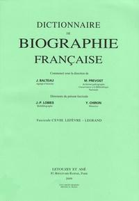 Galabria.be Dictionnaire de biographie française - Tome 20 Fascicule 118, Lefèvre - Legrand Image