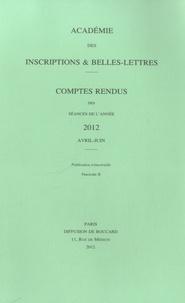 Jean-Pierre Mahé - Comptes rendus des séances de l'Académie des Inscriptions et Belles-Lettres - 4 volumes.