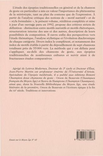 Discours de l'épopée médiévale. Volume 1, Les motifs dans la chanson de geste - Définition et utilisation