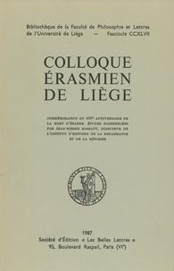 Jean-Pierre Massaut - Colloque érasmien de Liège.