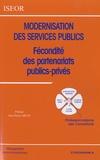 Jean-Pierre Méan - Modernisation des services publics - Fécondité des partenariats publics-privés.