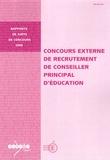 Jean-Pierre Obin - Concours externe de recrutement de conseiller principal d'éducation.