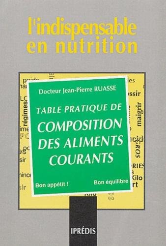 Jean-Pierre Ruasse - Table pratique de composition des aliments courants.
