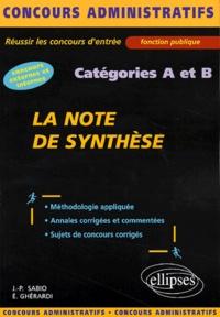 Satt2018.fr La note de synthèse Catégories A et B Image