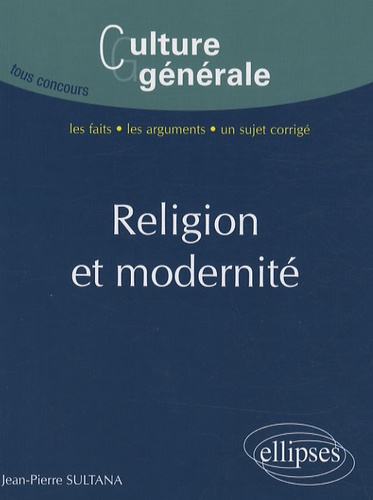 Jean-Pierre Sultana - Religion et modernité.