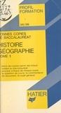 Jean-Pierre Vignes et Georges Décote - Bonnes copies de bac (1) - Histoire-géographie.