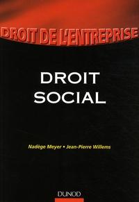 Jean-Pierre Willems et Nadège Meyer - Droit social.
