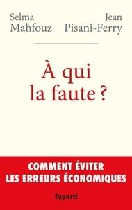 Jean Pisani-Ferry et Selma Mahfouz - A qui la faute ?.