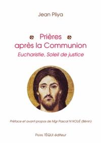 Jean Pliya - Prières après la communion.