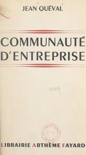 Jean Queval - Communauté d'entreprise.