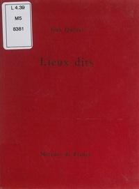 Jean Queval - Lieux-dits.