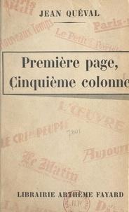Jean Queval - Première page, cinquième colonne.
