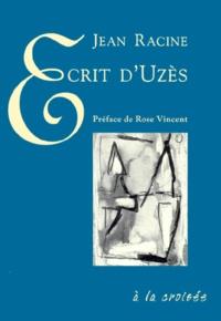 Jean Racine - Ecrit d'Uzès.