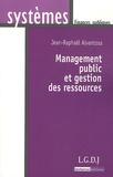 Jean-Raphaël Alventosa - Management public et gestion des ressources.