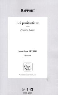 Loi pénitentiaire - Première lecture.pdf