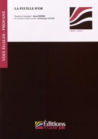 Checkpointfrance.fr La feuille d'or - 9 pièces pour choeur à voix égales et piano Image