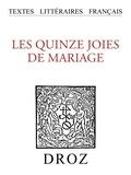 Jean Rychner - Les XV joies de mariage.