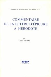 Jean Salem - Commentaire de la lettre d'Epicure à Hérodote.