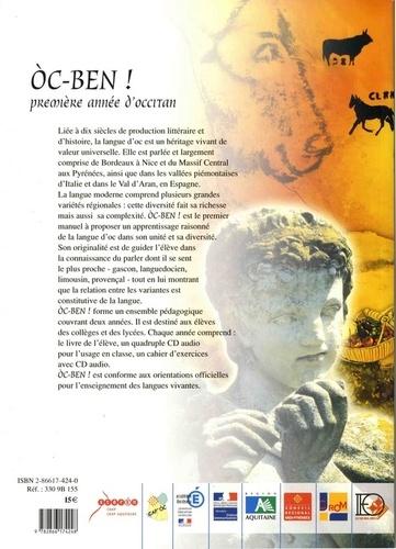 Oc-ben ! Première année d'occitan. Livre de l'élève