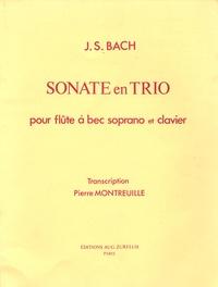 Jean-Sébastien Bach - Sonate en trio pour flûte à bec soprano et clavier.