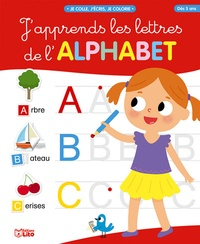 Livre en ligne à lire gratuitement sans téléchargement J'apprends les lettres de l'alphabet  - Couverture rouge