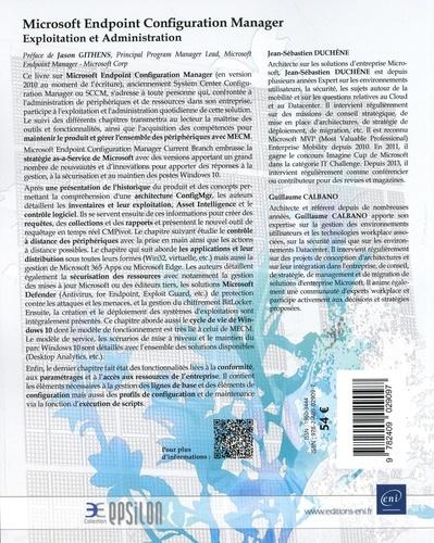 Microsoft Endpoint Configuration Manager. Exploitation et administration 2e édition