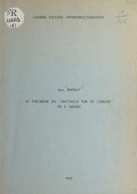 Jean Simeray - Le théorème du Spectacle pur de l'erreur de E. Minski.