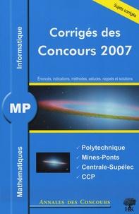 Mathématiques et informatique MP - Jean Starynkévitch  