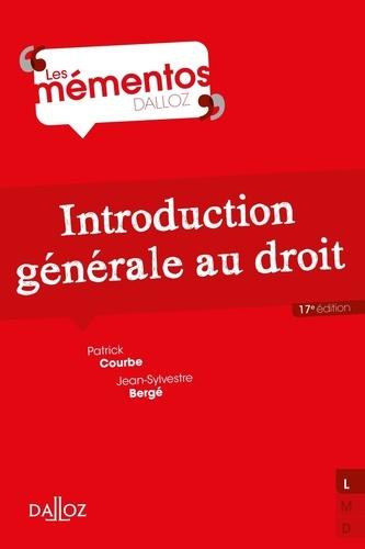 Introduction générale au droit 17e édition