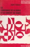 Jean Theau et Georges Hahn - La conscience de la durée et le concept de temps.