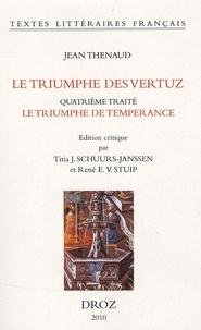 Jean Thenaud - Le triumphe des vertuz - Quatrième traité : Le triumphe de temperance.