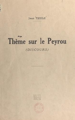 Un thème sur le Peyrou. Discours proposé aux élèves de l'École Régionale des Beaux-Arts de Montpellier le mardi 8 janvier 1946